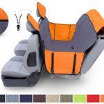 Mata samochodowa dla psa - z nakładkami na zagłówki  - Kardimata Activ z bokami i zamkiem