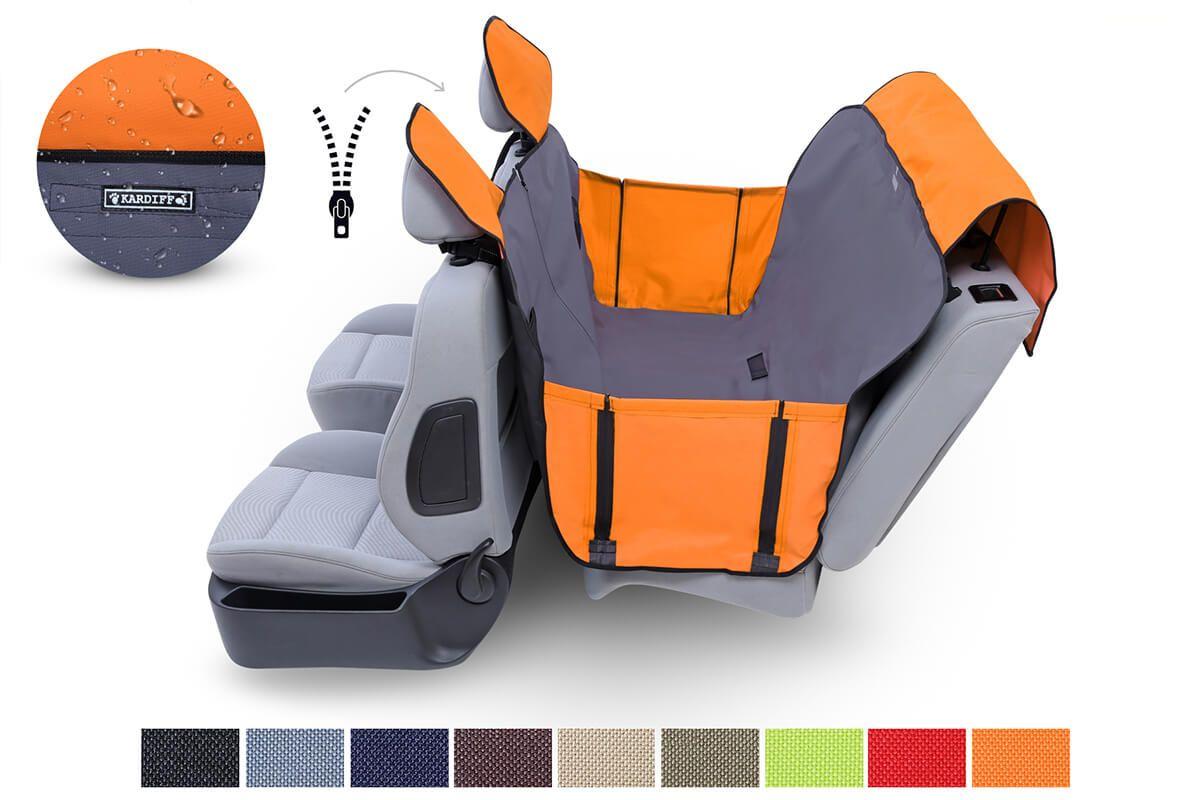 Mata samochodowa z nakładkami na zagłówki  - Kardimata Activ z bokami i zamkiem