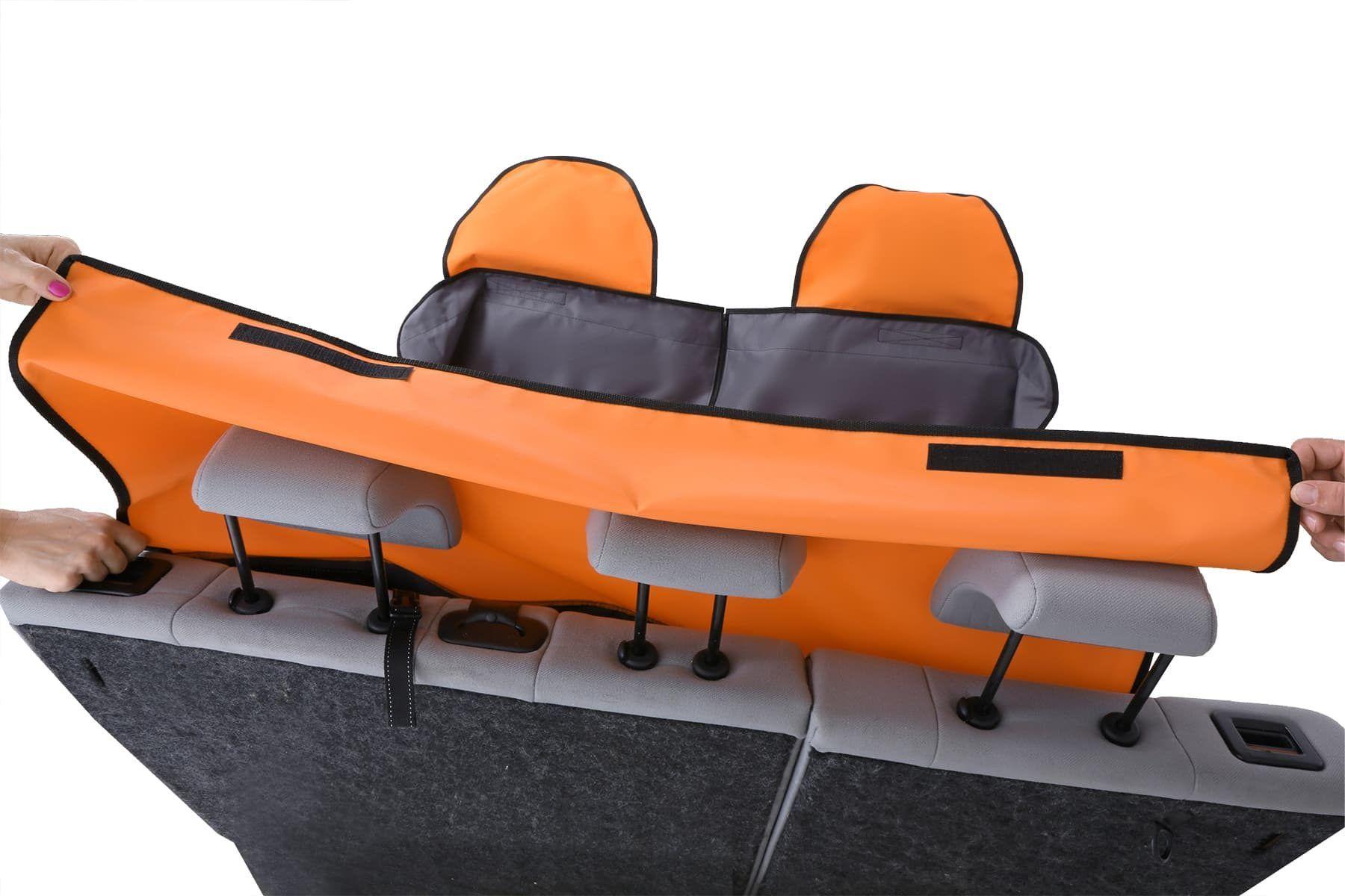 Mata samochodowa z nakładkami na zagłówki - Kardimata Activ z zamkiem