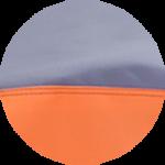 Popielato - Pomarańczowy