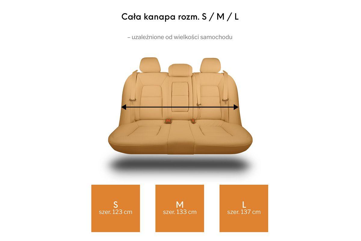 Mata samochodowa z nakładkami na zagłówki - Kardimata Activ MINI ( na część kanapy)